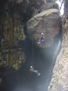 A rather pleasent abseil, although intimidating to those who've never tried it before.