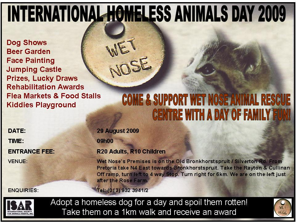 Homeless Animals Day 2009 Poster
